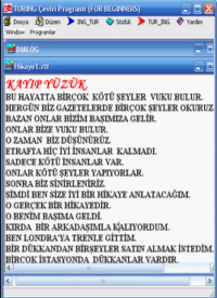 Turing translation ingilizce �eviri program�
